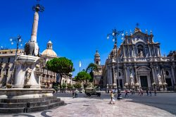 A view from Piazza del Duomo in Catania Italy (Sicily)