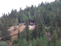 Black Hawk was once a mining town. Here you can see the entrance to one of the old mine shafts.