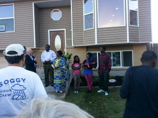 Introducing the family for whom the home was renovated