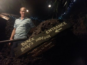 Randy at the entrance to Black Bart's Hideout
