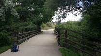 The bridge over the small river