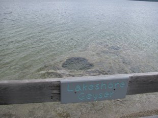 Lakeshore Geysers under water.