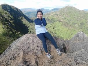 Windy!! Mt Hapunang Banoi at the back.