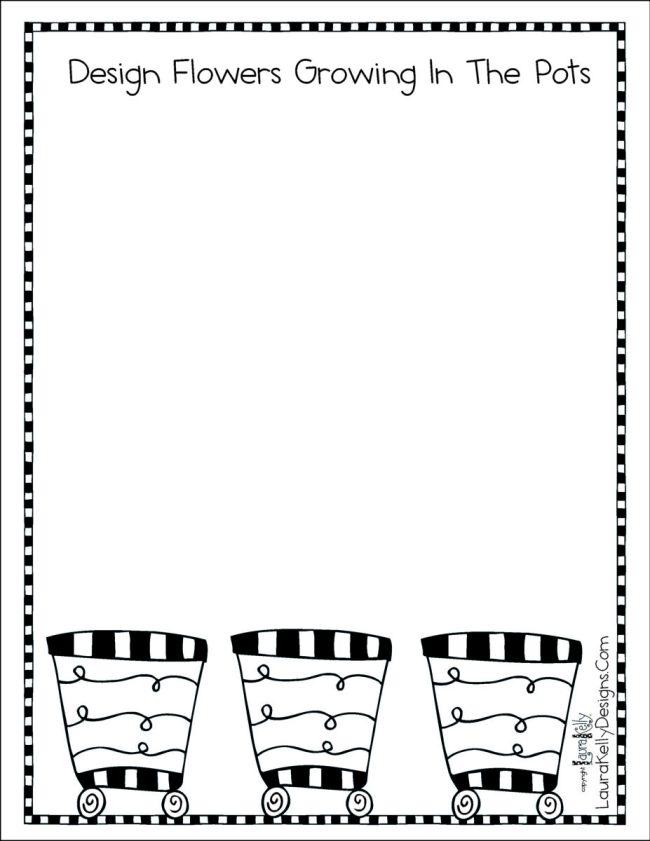 Flowerpot Gardening Printable Activity