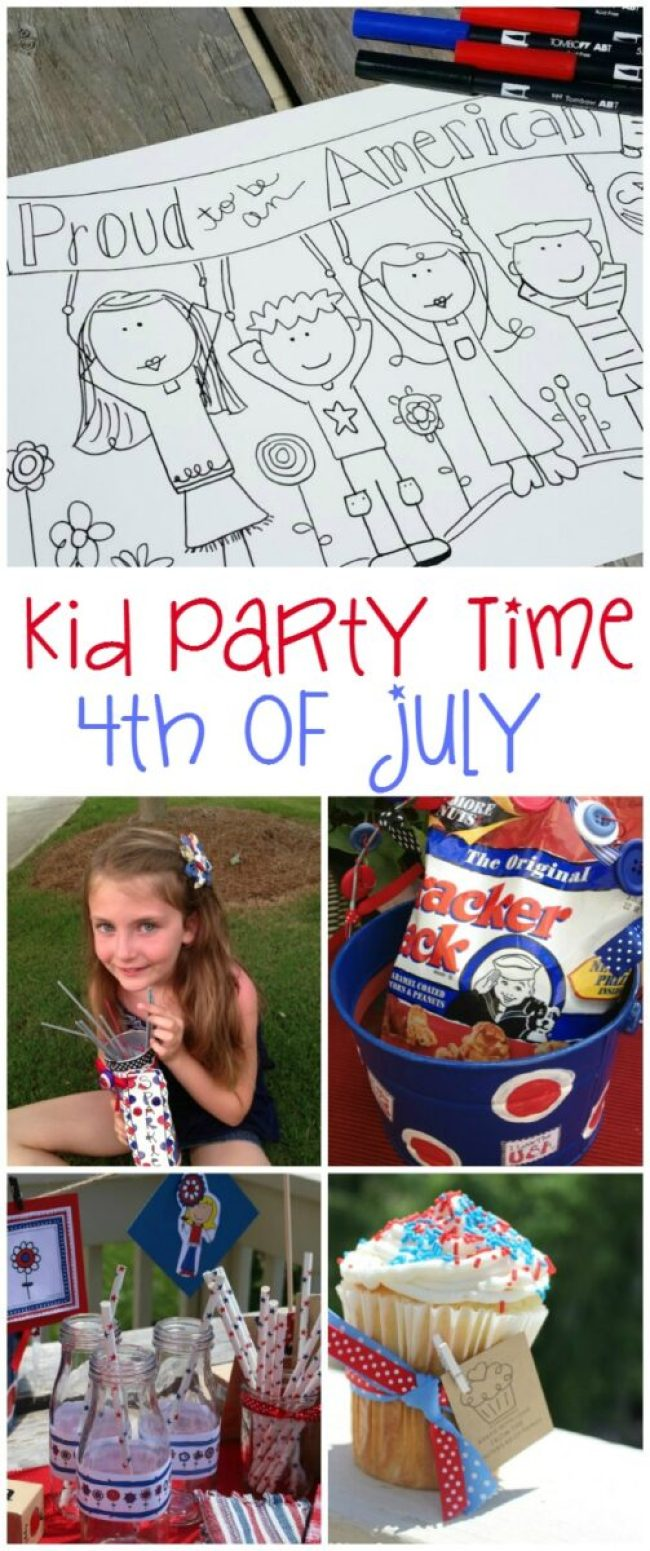 Fourth of July Party for Kids with Free Printables