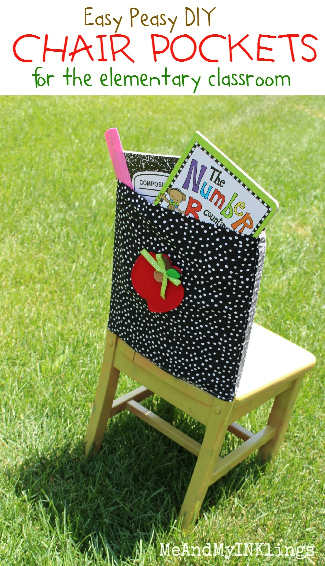 Easy Sew Chair Pockets for Classroom