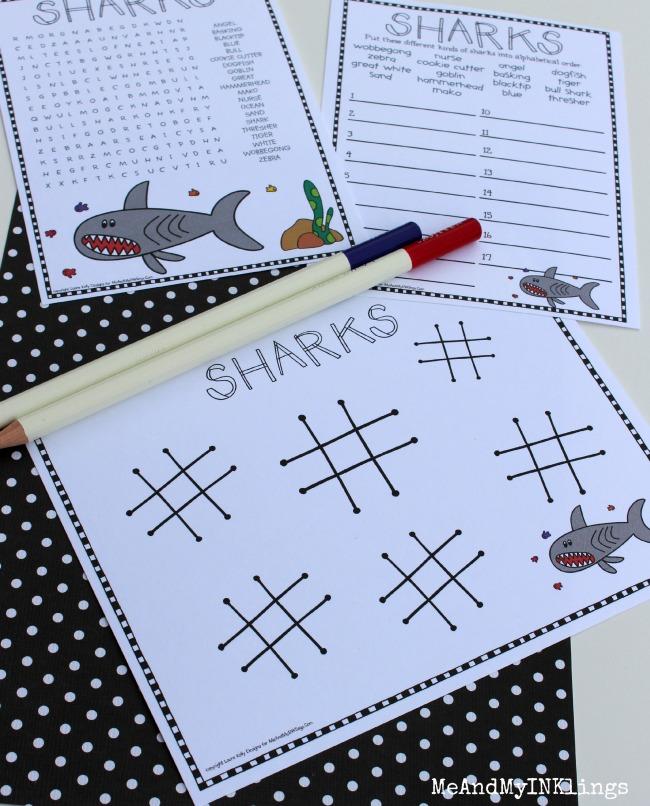 FREE Shark Week Party Printables #sharkweek #sharkcraft #laurakellydesigns