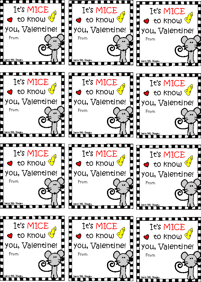 Valentine Printable Tag Cheese Stick