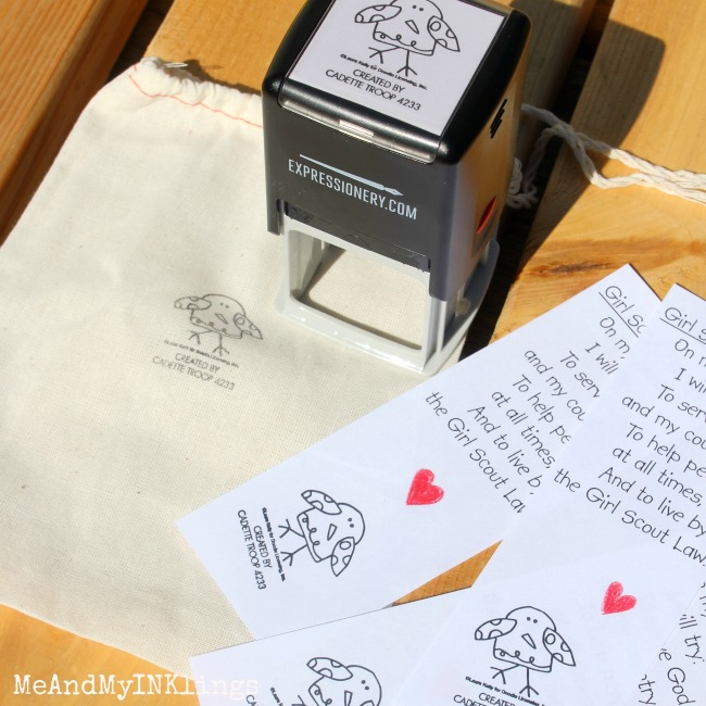 Girl Scout Promise Expressionery Stamp 2