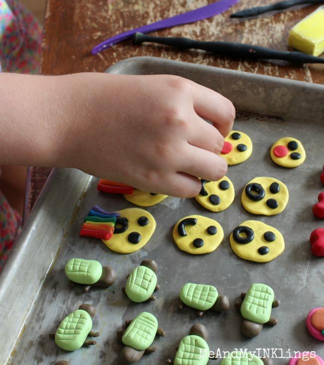 Zoe Emoticon Clay Game Pieces