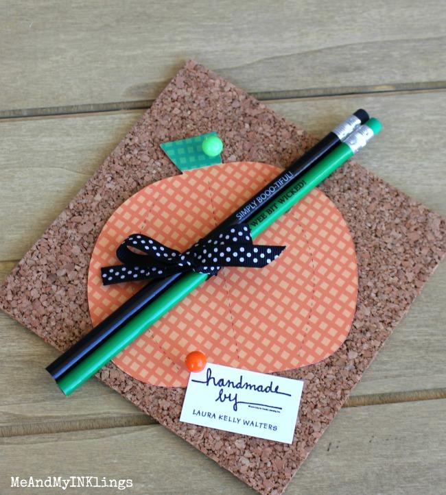 Pumpkin Die Cut with Customized Pencils