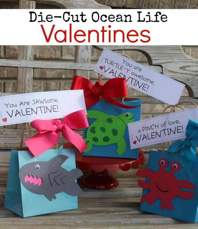 Die Cut Ocean Life Valentines