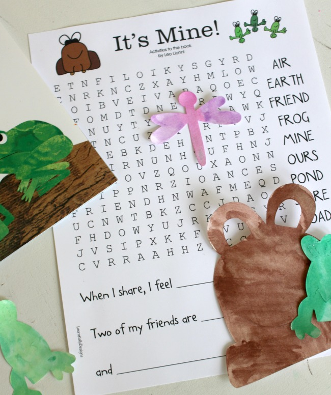 Its Mine Word Search Activity