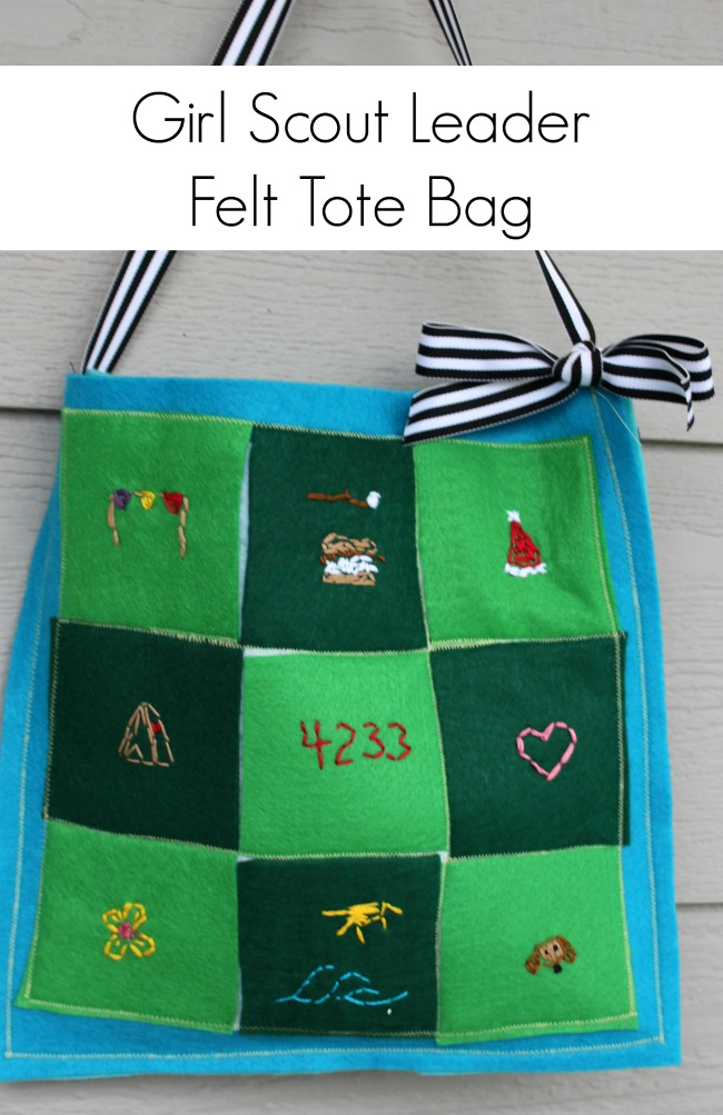 Felt GIrl Scout Projects Service and Craft Ideas