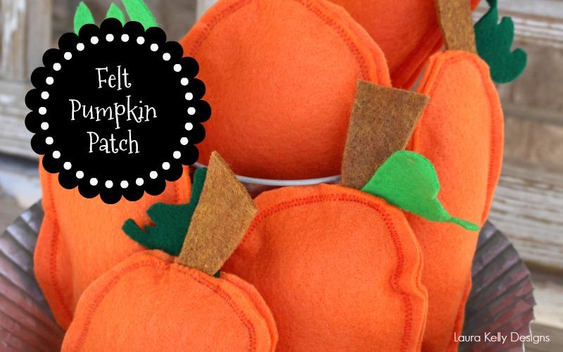 Autumn Felt Pumpkin Patch Decor