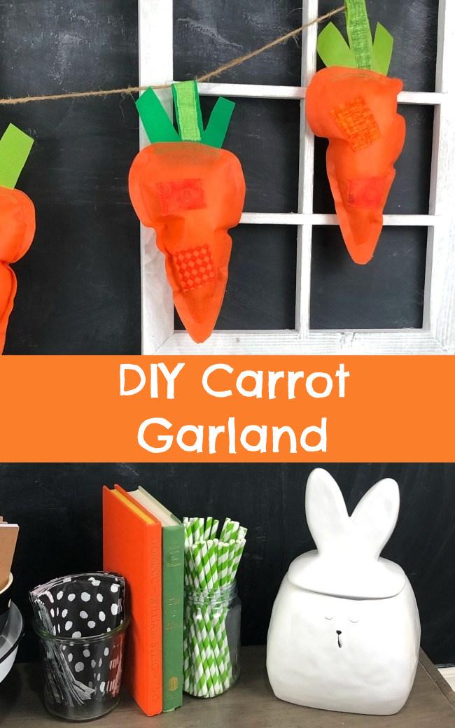 DIY Carrot Garland