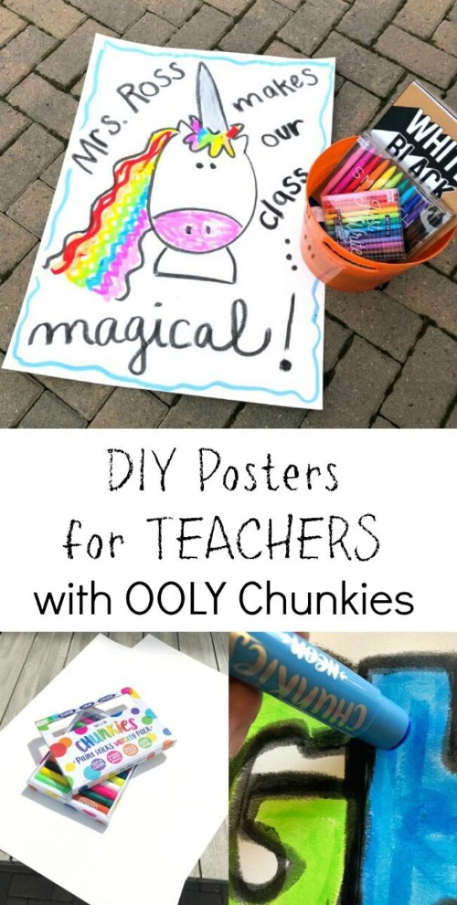 Teacher Appreciation Poster DIY