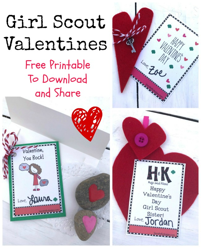 Girl Scout Valentine Printable Free Download