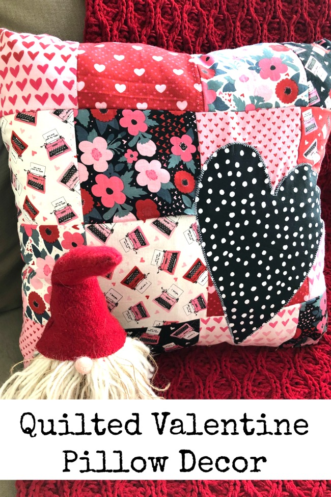 Quilted Valentine Pillow Decor Begiining Sewing Project Tutorial