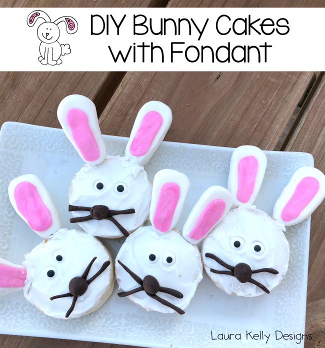 DIY Bunny Cakes with Fondant