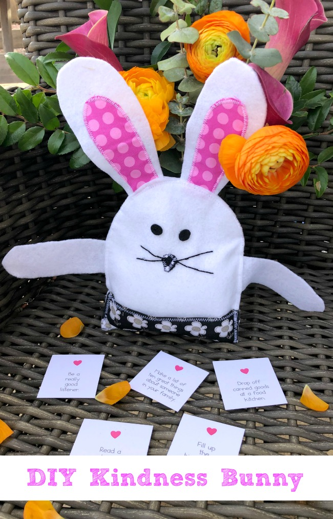DIY Kindness Bunny Beanbag