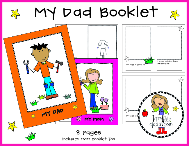 My Dad Booklet Free Printable for Fathers Day