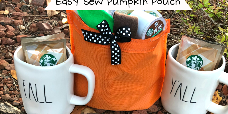 Easy Sew Pumpkin Pouch Decoration for Autumn