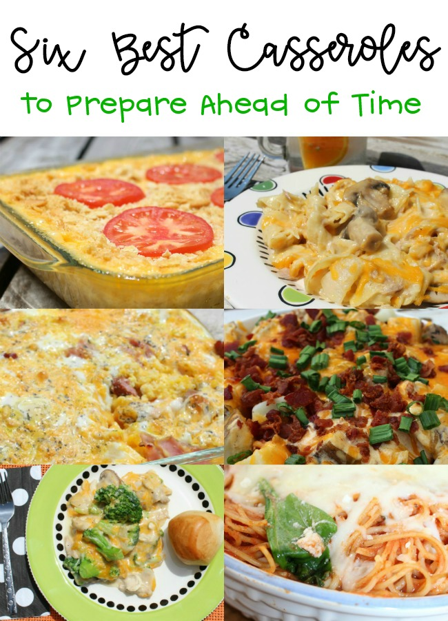 Six Best Casseroles to Prepare Ahead of Time
