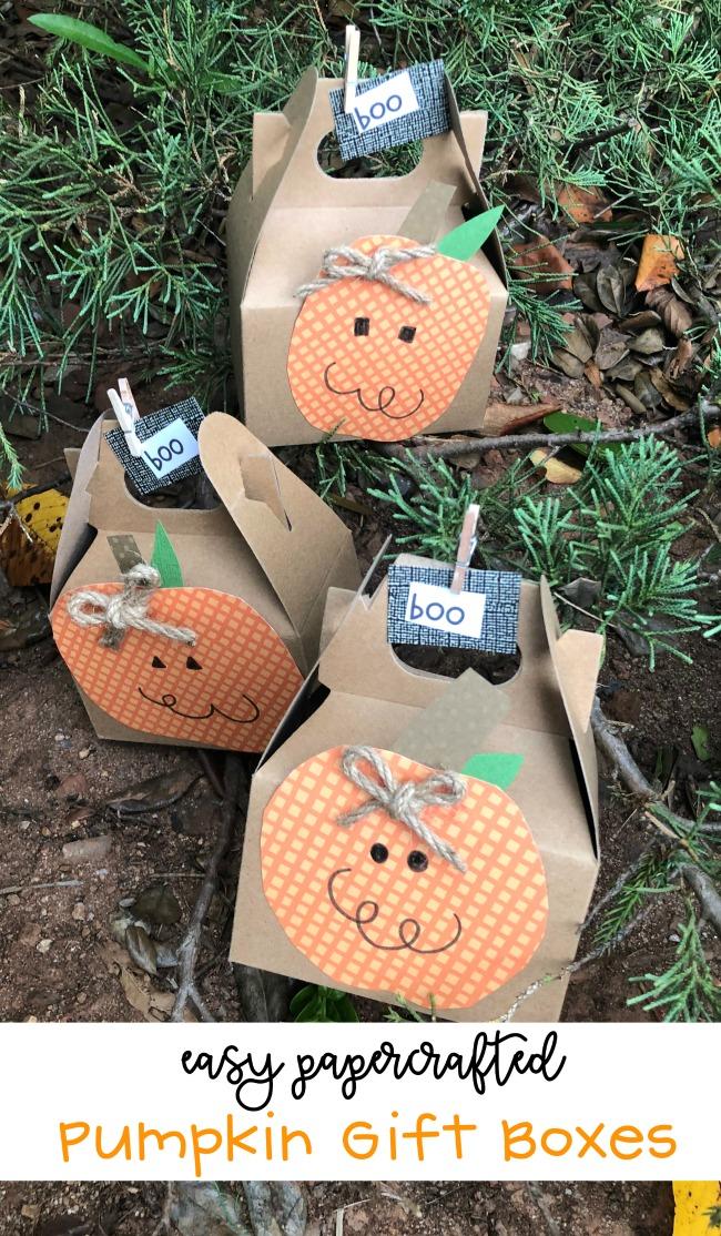 The BEST Halloween Treat Box Pumpkin Gift Boxes