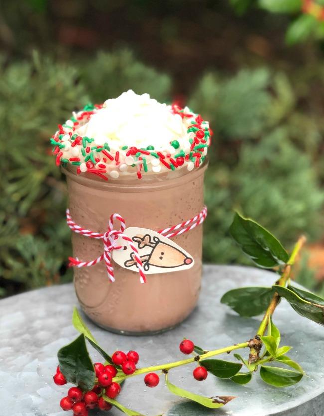 Reindeer Milk Shake Holiday Drink