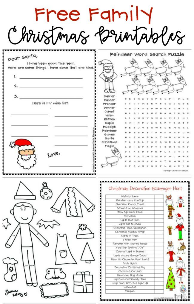 FREE Kids Christmas Printables