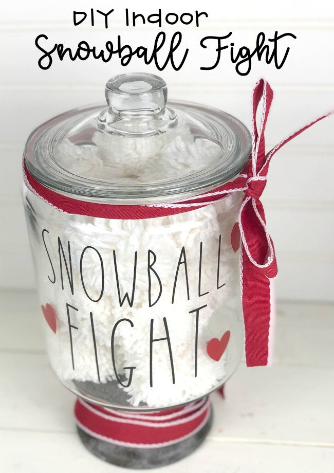 DIY Indoor Snowball Fight Last Minute Gift
