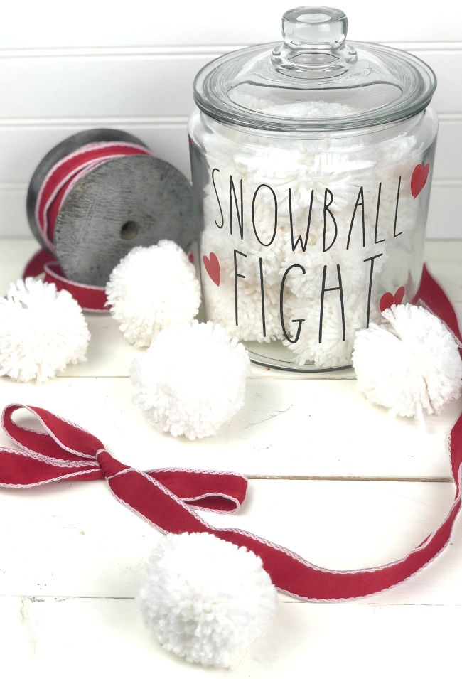 Indoor Snowball Fight in a Jar