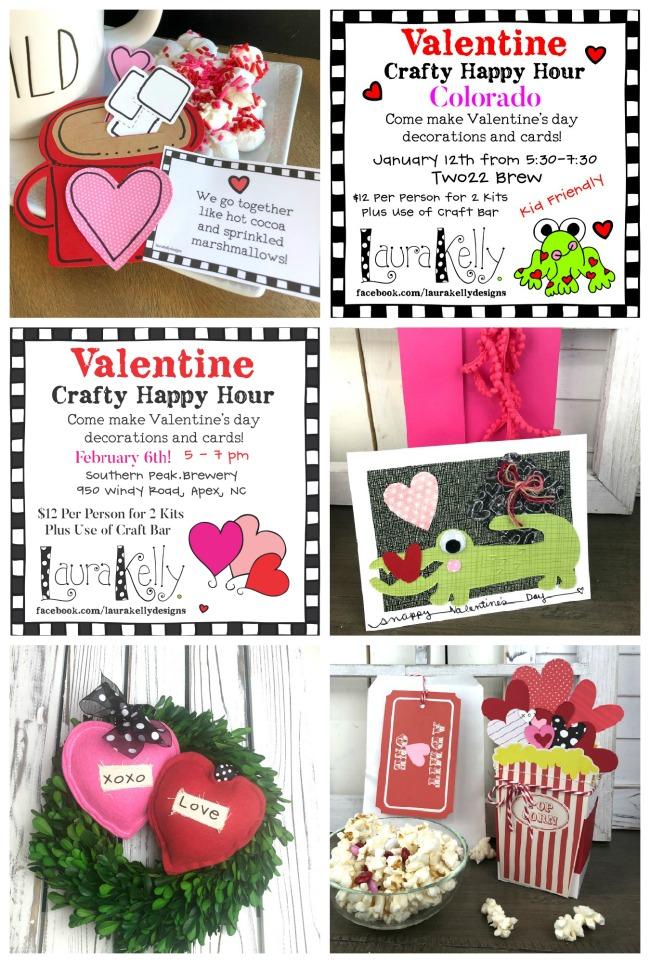 Crafty Happy Hour Valentines Day Craft Kits Galentines
