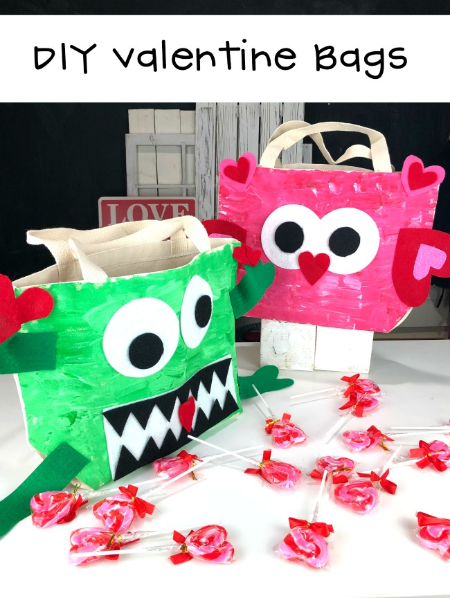 DIY Valentine Bags with Cricut