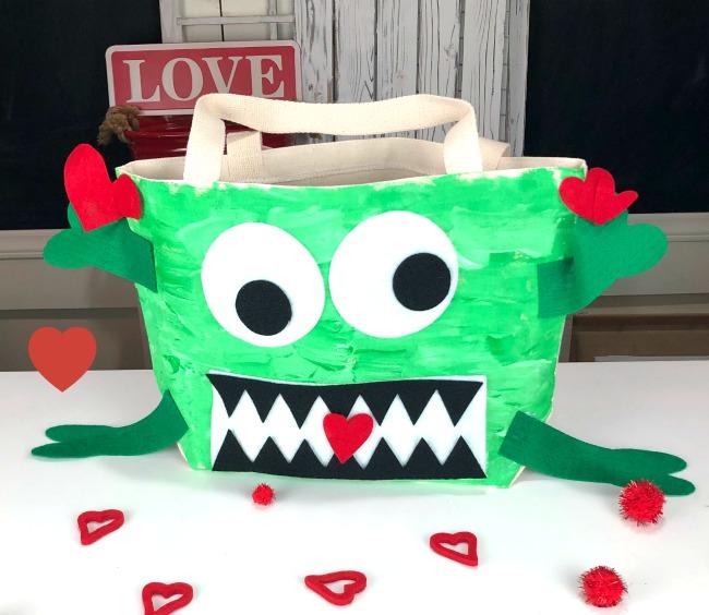 DIY Valentine Monster Bag