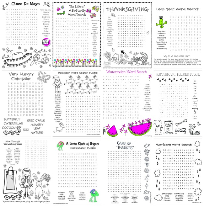 Over 50 Free Word Search Puzzles