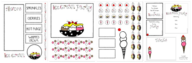 Ice Cream Party Printable Free