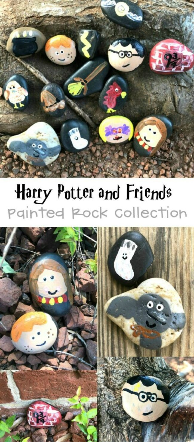 Harry-Potter-Themed-Painted-Rock-Collection