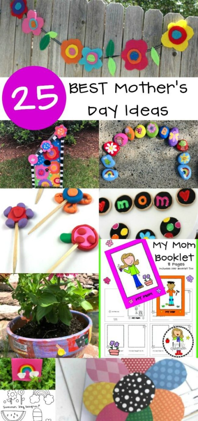20 Best Mothers Day Craft Ideas Recipes and Printables #crafts #mothersday #printables #kidcrafts