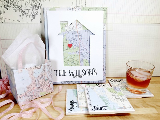 RECYCLE A MAP THREE WAYS CREATIVELY BETH 1