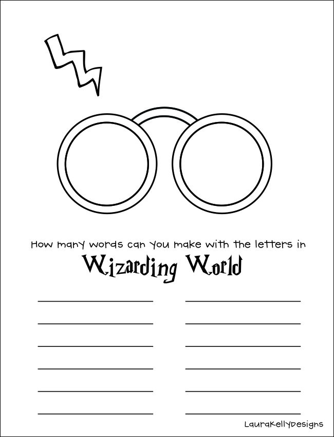 Harry Potter Pattern for Glasses and Scar