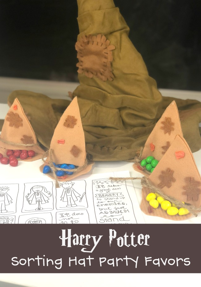Harry Potter Sorting Hat Party Favors