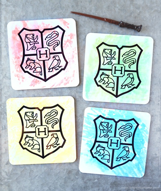 Harry Potter House Coasters with Heat Sublimation