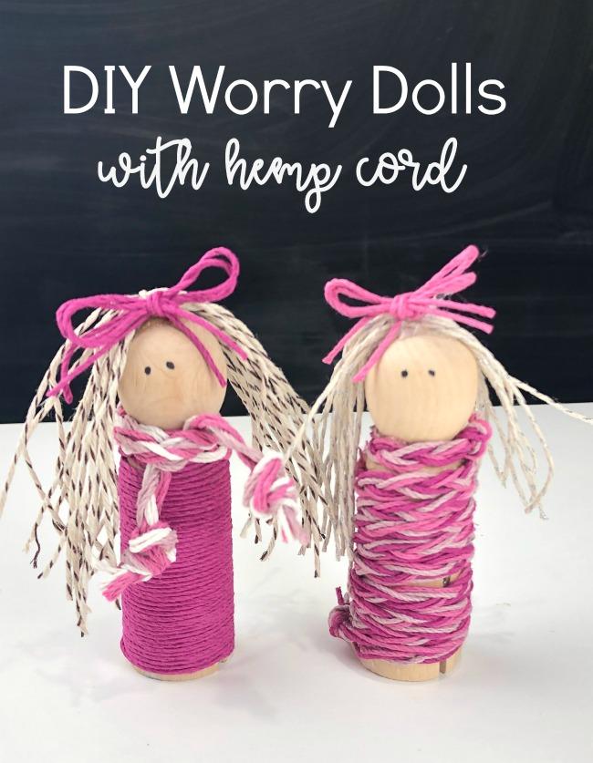 DIY Worry Dolls with Hemp Cord
