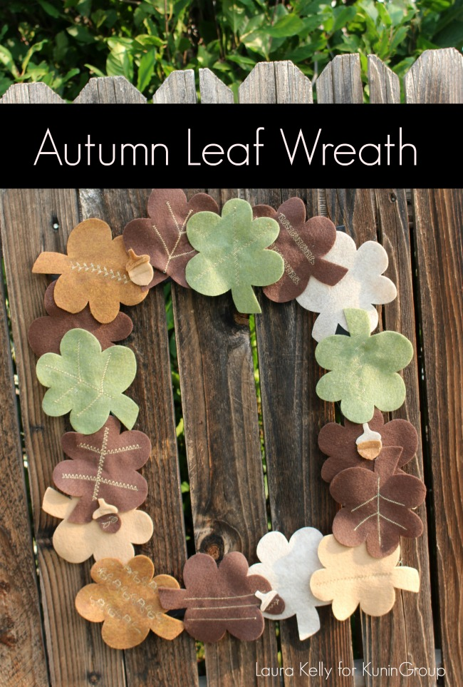 Autumn Leaf Wreath with Felt