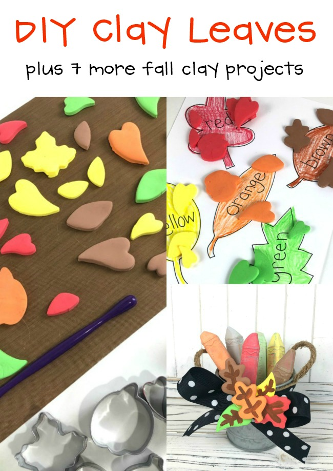 DIY Clay Leaves for Kid Crafts