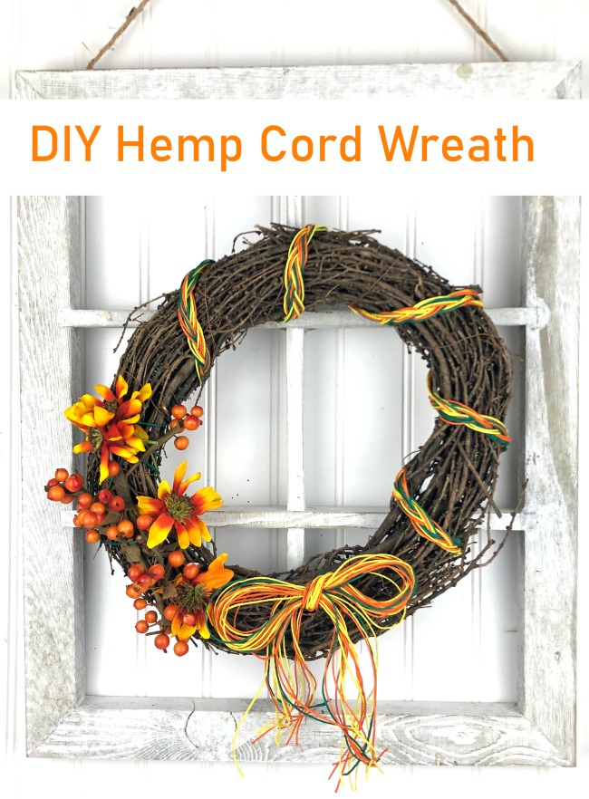 DIY Hemp Cord Wreath