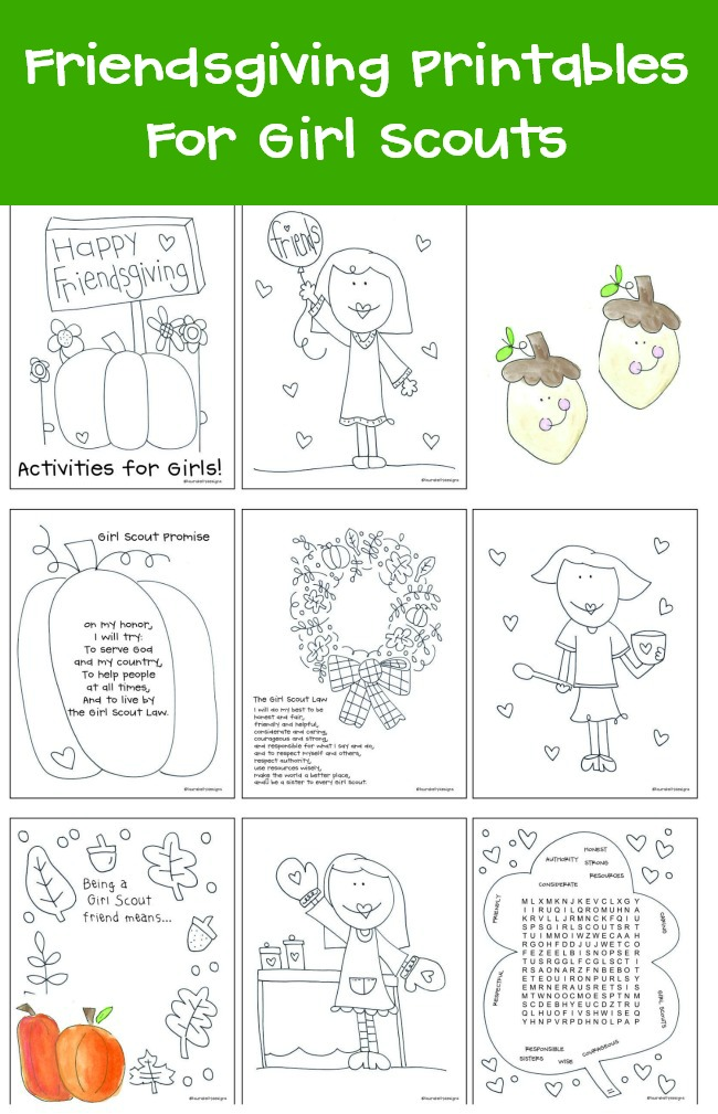 Friendsgiving FREE Printables for Girl Scouts by Laura Kelly Designs