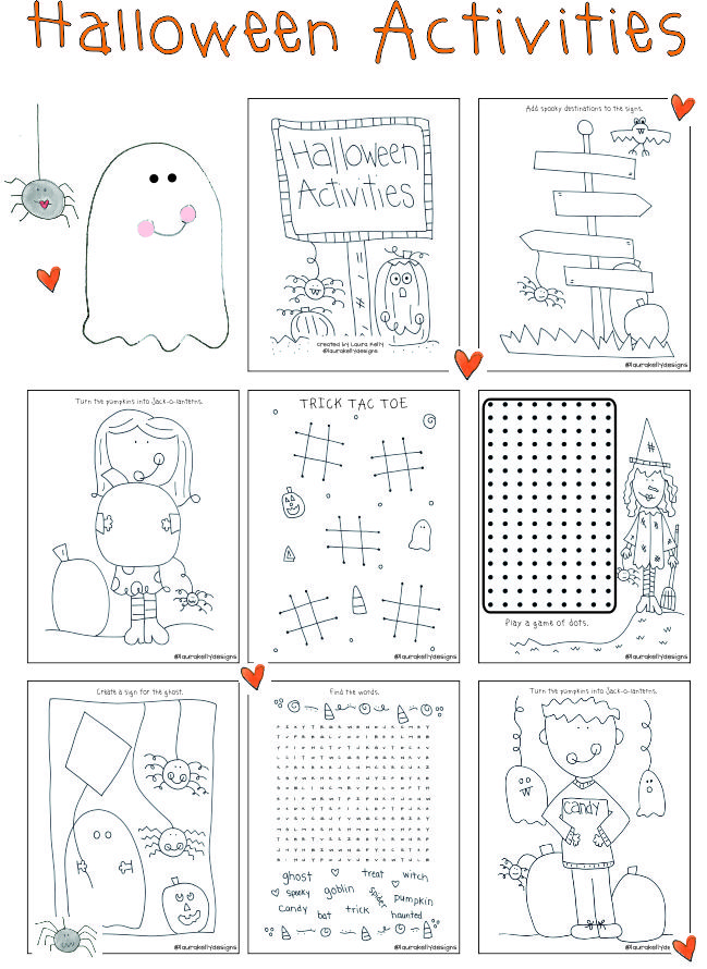 Halloween Printable Coloring Activities